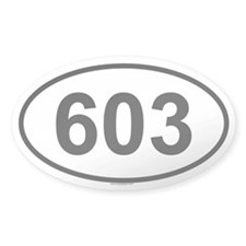 603 Oval Decal