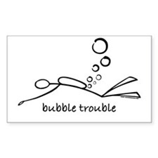 Bubble Trouble Scuba Diver Rectangle Decal