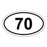 70 Oval Decal