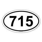 715 Oval Decal