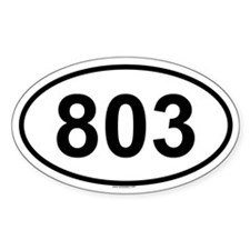 803 Oval Decal