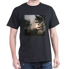 Peekin' Through Black T-Shirt