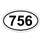 756 Oval Decal