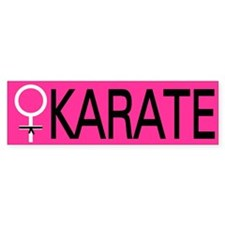 Karate Black Belt Female Bumper Sticker