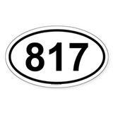 817 Oval Decal