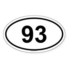 93 Oval Decal