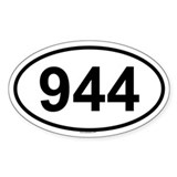 944 Oval Decal