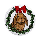 Christmas Rabbit Ornament (Round)