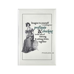 Jane Austen Profligate Rectangle Magnet