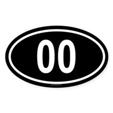 00 Oval Decal