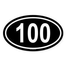 100 Oval Decal