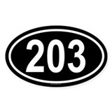 203 Oval Decal