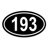 193 Oval Decal