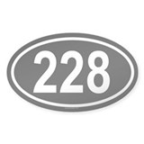 228 Oval Decal