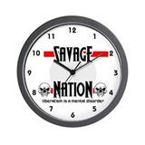 Savage Nation Wall Clock