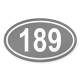 189 Oval Decal