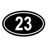 23 Oval Decal
