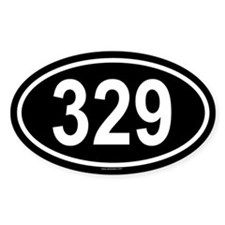 329 Oval Decal