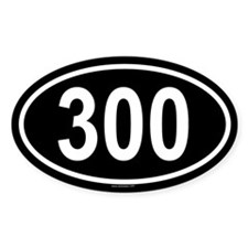 300 Oval Decal