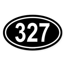 327 Oval Decal