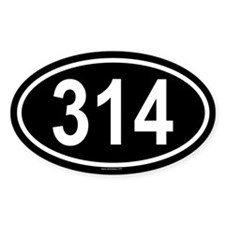 314 Oval Decal