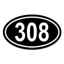 308 Oval Decal