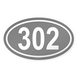 302 Oval Decal