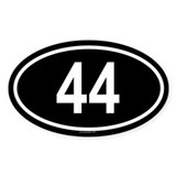 44 Oval Decal