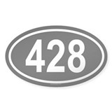428 Oval Decal