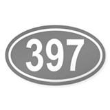 397 Oval Decal