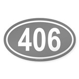 406 Oval Decal