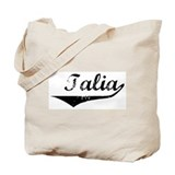 Talia Vintage (Black) Tote Bag