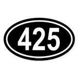 425 Oval Decal