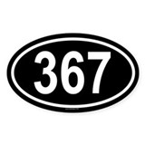 367 Oval Decal