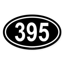 395 Oval Decal