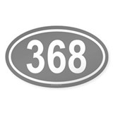 368 Oval Decal