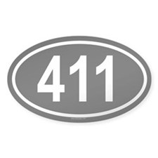 411 Oval Decal