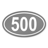 500 Oval Decal