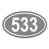 533 Oval Decal
