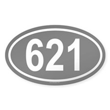 621 Oval Decal