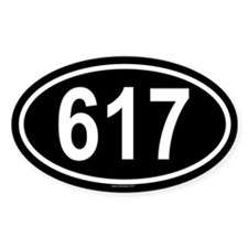 617 Oval Decal