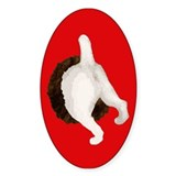 Diggin' Jack Russell Terrier Oval Decal