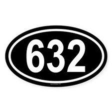632 Oval Decal