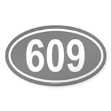 609 Oval Decal