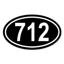 712 Oval Decal