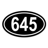 645 Oval Decal