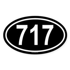 717 Oval Decal