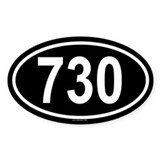 730 Oval Decal
