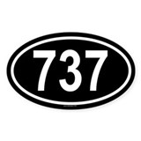 737 Oval Decal