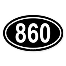 860 Oval Decal